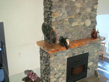 "Load image into Gallery viewer, 4"" x 8"" Mantel made from Wrap around wood fireplace mantel shelf ""REAL BEAM"""