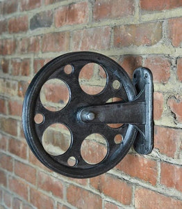 Industrial pulley and bracket