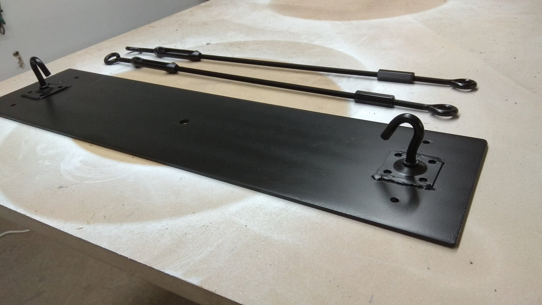 Mounting plate and adjustable rods for beam chandelier