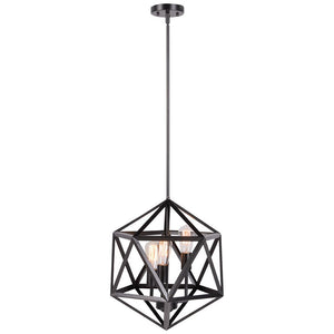 Industrial Chandelier wood and iron