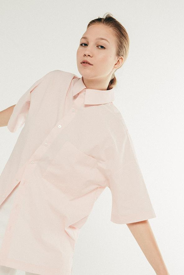 Giant Shirt - Pink Cotton