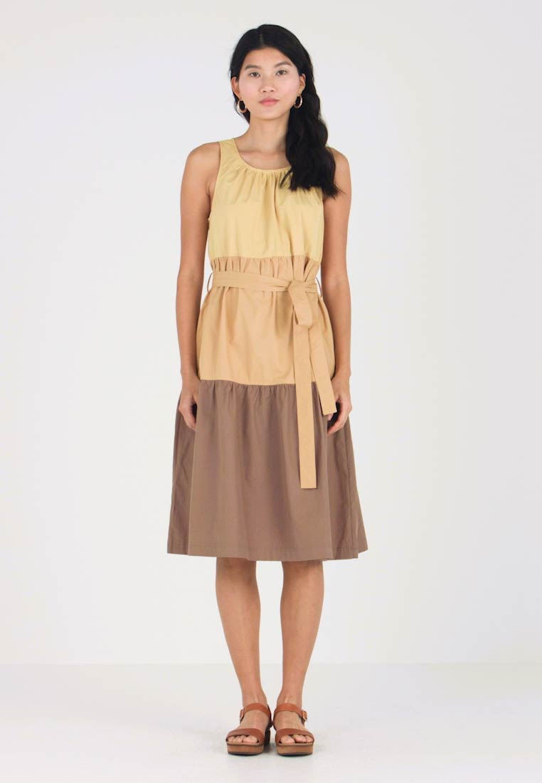 Heavy Poplin Dress - Yellow