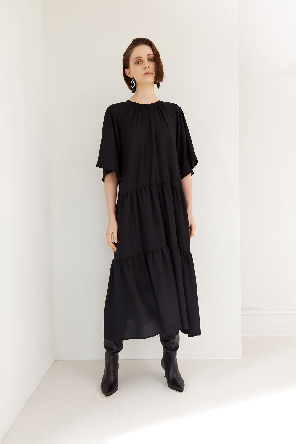 Leafy Dress - Black