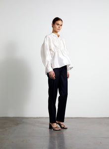 Bloom Silk Blouse - Ivory