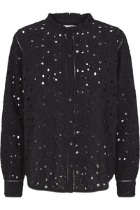 Lindy Lace Shirt - Black