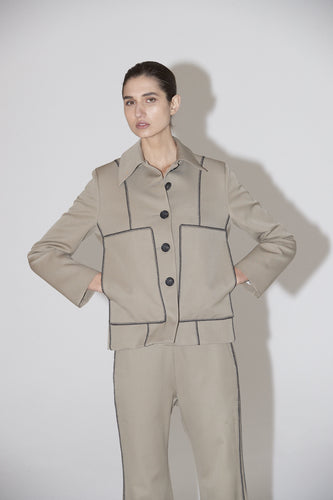 Agent Crop Jacket - Taupe