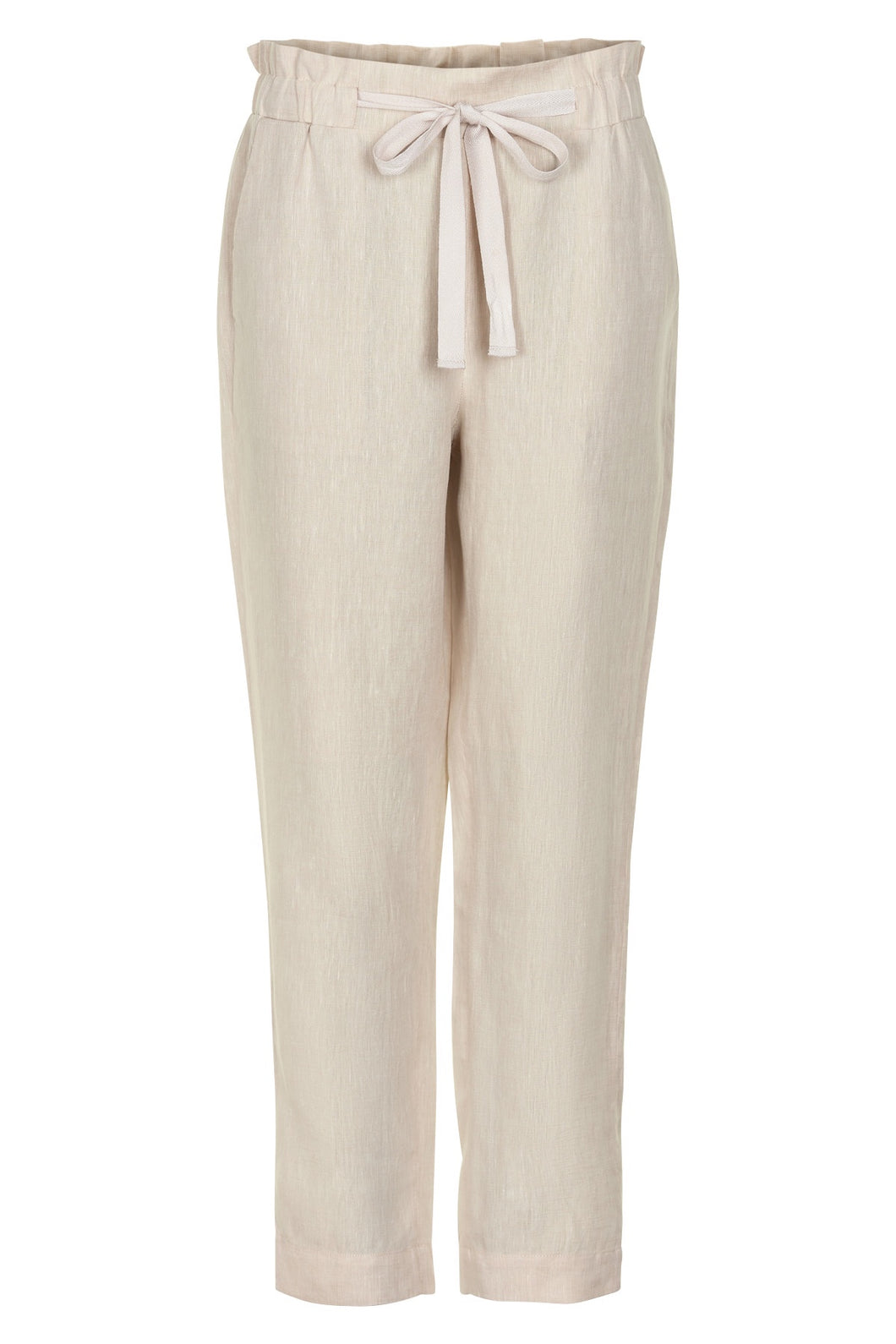 Basic Linen Trousers - Natural
