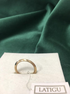 Gold Bevel Ring