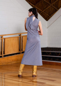 Roque Dress - Slate Stripe