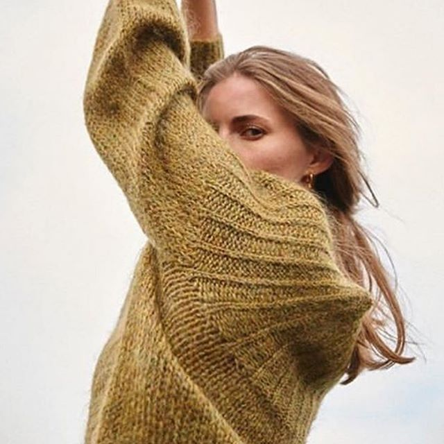 Winter Mohair Pullover - Mustard Gold
