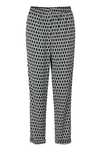 Viscose Stretch Trousers - Green Multi