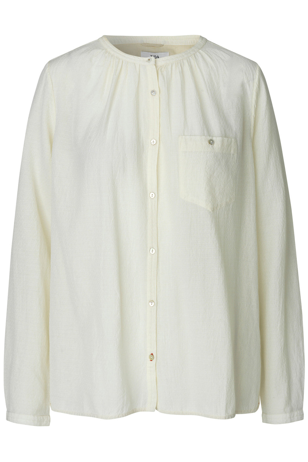 Dobby Sheer Blouse - Bone White