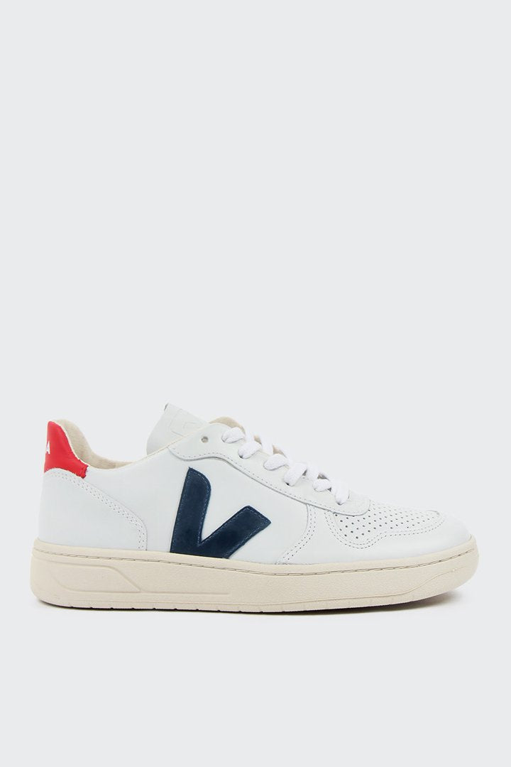 V10 Leather - Extra White/Nautico/Pekin