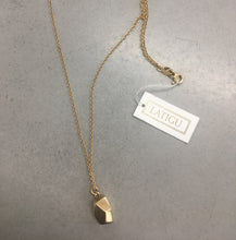 Load image into Gallery viewer, Gold Facet Pendant Neckace