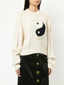 Ying and Yang Sweater - Ivory