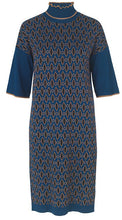 Load image into Gallery viewer, Shimmer Jacquard Dress - Art Blue