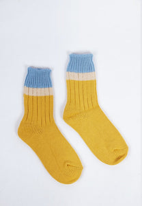 Camp Socks - Powder Yellow