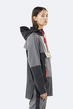 Load image into Gallery viewer, Colour Block Anorak - Black/Charcoal