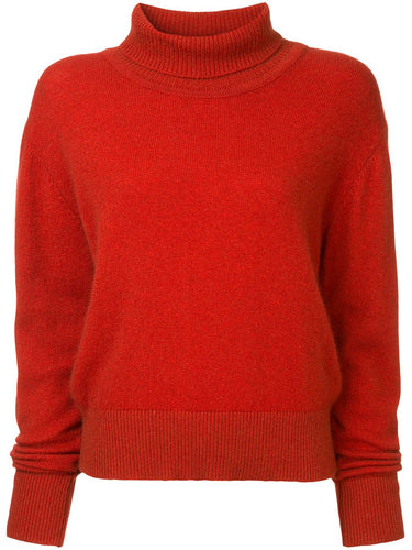 Cloud Turtle Neck Sweater - Red