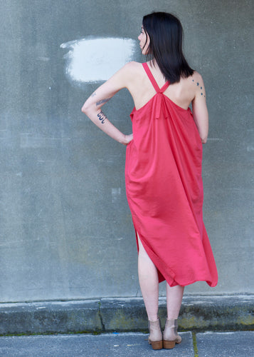 Crimson Silk/Cotton Dress