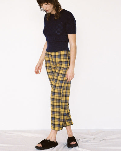Holly Pant - Gold Plaid
