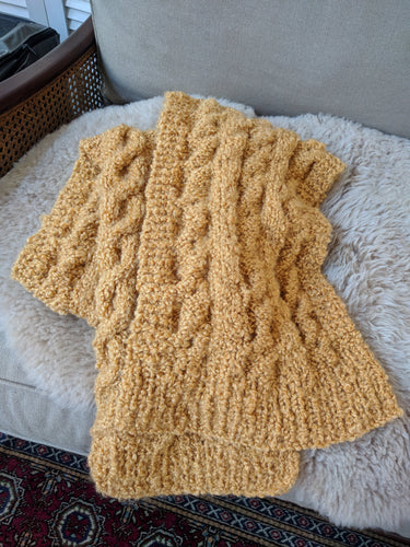 Boucle Mustard Scarf