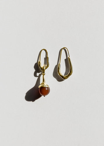 Lulu Earrings, Carnelian - Gold