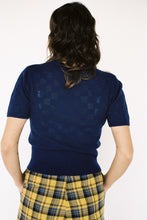 Load image into Gallery viewer, Lace Knit Tee Midnight