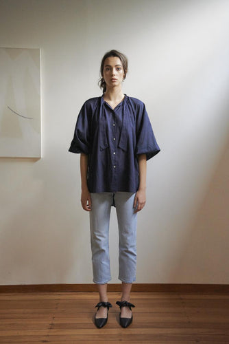 Everyday Blouse:  Cotton Voile | Navy