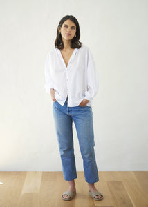Everyday Blouse - Cotton Voile, White