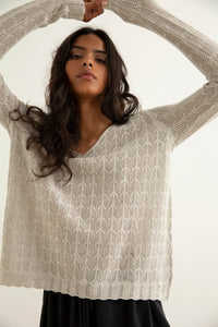 Nyla Sweater - Grey Marle