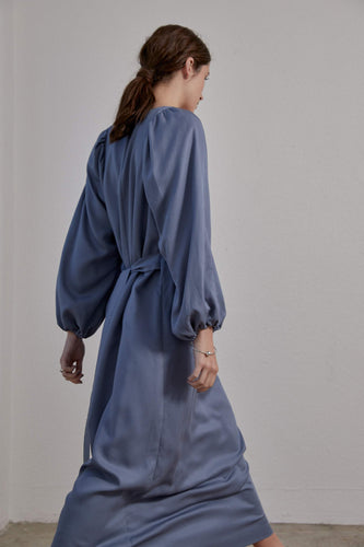 Isadora Dress - Smokey Blue Tencel