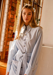 Novella Shirt Dress - Pale Blue