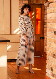 Robin Dress - Ivory Spot