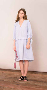Poplin Mix Dress - Art Blue