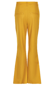 Wide Leg Trousers - Gold