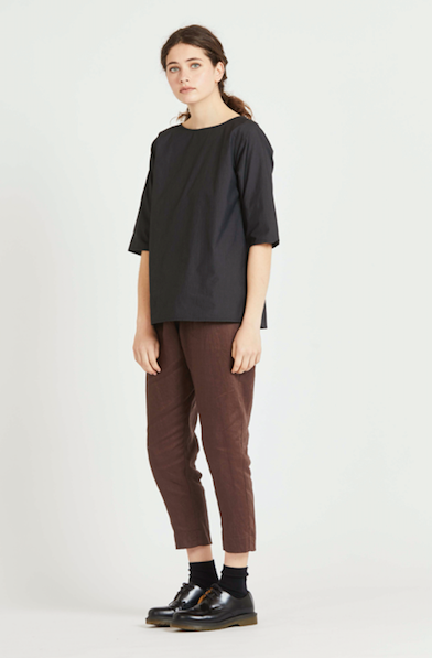 Buddy Top - Black Linen