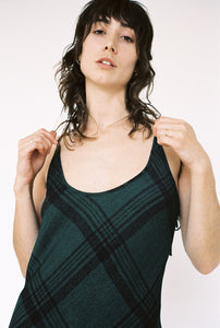 Siouxsie Slip Green Plaid