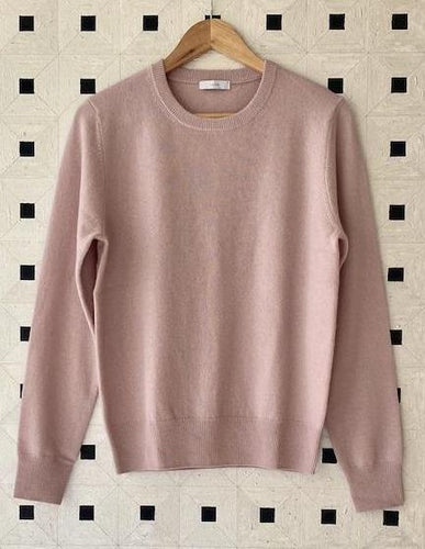 The Essential Cashmere Crew - Dusky Pink