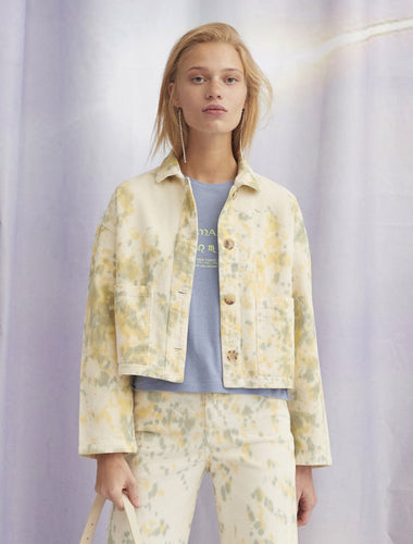 Lu Corduroy Tie-Dye Jacket - Yellow