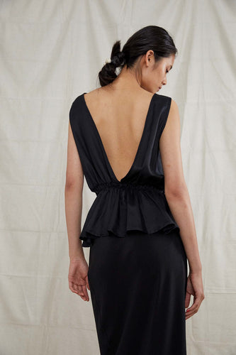 Harbin Top - Silk Cotton in Onyx
