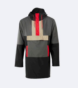 Colour Block Anorak - Black/Charcoal