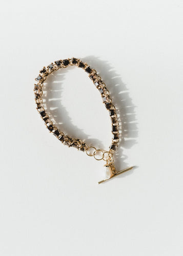 Sparkle Bracelet - Smokey Quartz, Gold