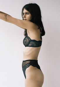 Delilah High Waist Brief - Soot