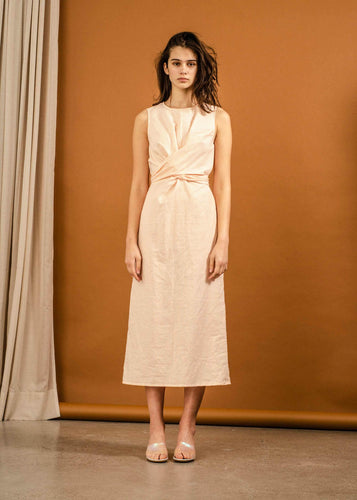 Yrsa Dress - Peach Stripe