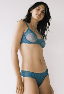Lillian Underwire Bra - Teal