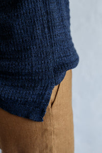 Funnel Knit - Speckled Navy