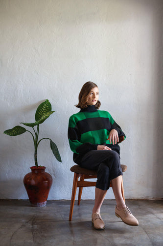 Giant Check Sweater - Emerald