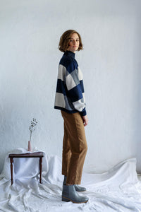 Giant Check Sweater - Shibori