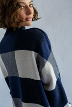 Load image into Gallery viewer, Giant Check Sweater - Shibori